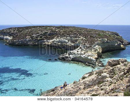 Isla de los conejos. Lampedusa - Sicilia