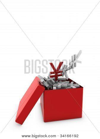 Yen On Red Box