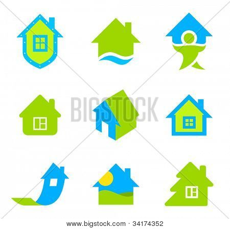 House icon set. Realty theme. Different icons for realty.