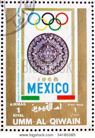 Postage stamp Umm al-Quwain 1972 Mexico 1968, Olympic Games of t