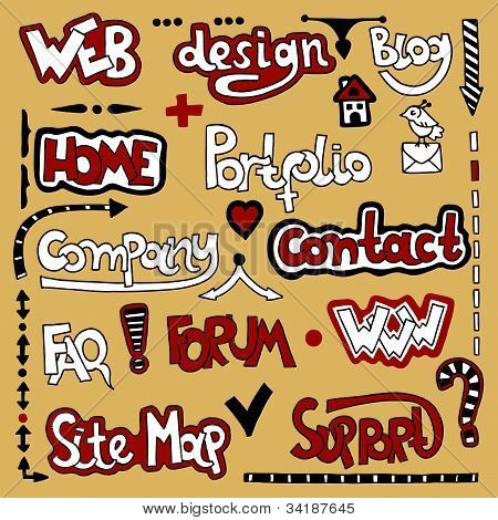 Lettering Web Design Element