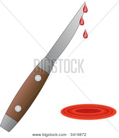Knife Pocket With Pool Of Blood.