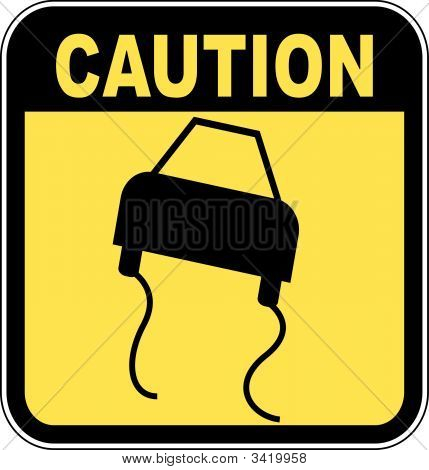 SignCaution Road Slippery