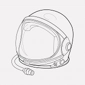 Astronaut Helmet Icon Line Element. Illustration Of Astronaut Helmet Icon Line Isolated On Clean Bac poster