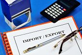 Import-export. Import - Import Into The Country From Other Countries Of Goods, Works, Services, Resu poster