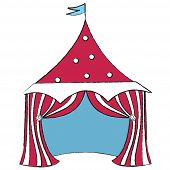 stock photo of circus tent  - red circus tent - JPG