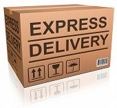 Express delivery cardboard box special shipment online internet order from webshop