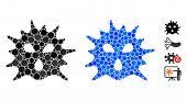 Virus Composition Of Filled Circles In Different Sizes And Shades, Based On Virus Icon. Vector Fille poster