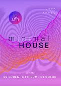 Neon Flyer. Dynamic Gradient Shape And Line. Cool Show Brochure Concept. Neon Flyer Trance Event. Te poster