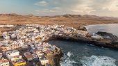 Aerial View Of El Cotillo Bay, Fuerteventura. Canary Islands poster