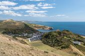 View Of Lulworth Cove On The Dorset Coast poster