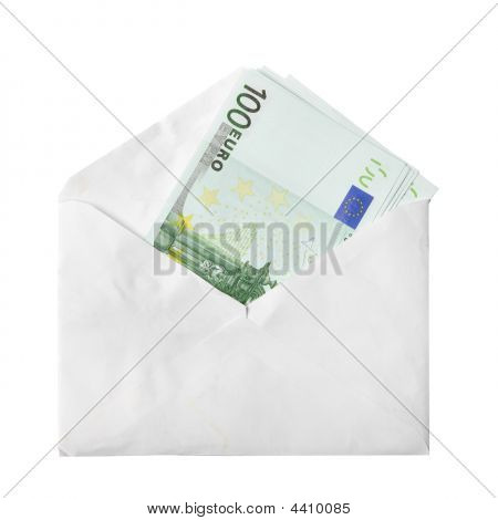 Euro Banknotes In Envelope