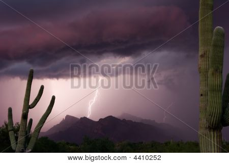 Pusch Ridge Sunset Thundershower