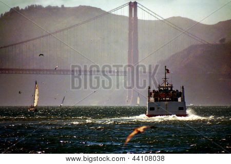 Boat In The San Francisco Bay