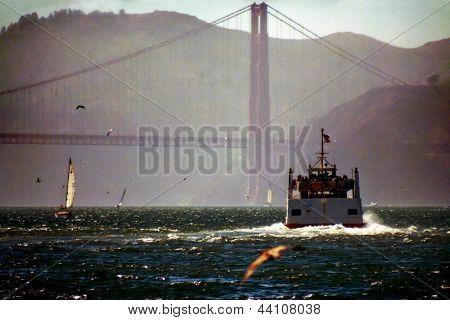 Boat In The San Francisco Bay