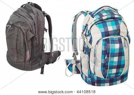 pupil's bag under the white background