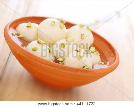 Indian Rasgulla Dessert