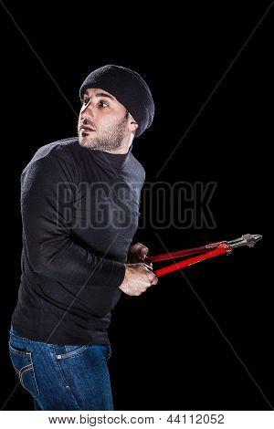 Panicky Burglar
