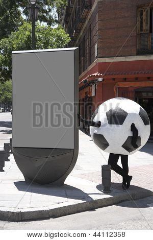 Fußball Ball Verkleidung