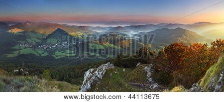 Fall In Slovakia Mountain Fatras