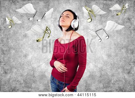 Girl With Earphones