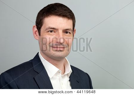 Smiling Business Casual Businessman