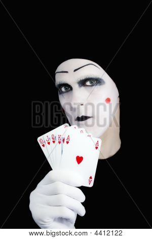 Portrait Of The Mime With Royal Flush