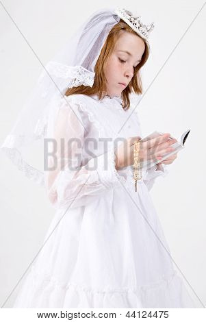 Young girl's First Communion