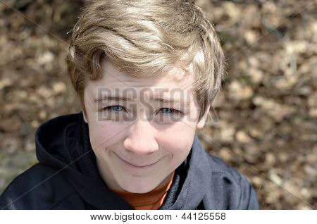 Smiling Boy Outdoors