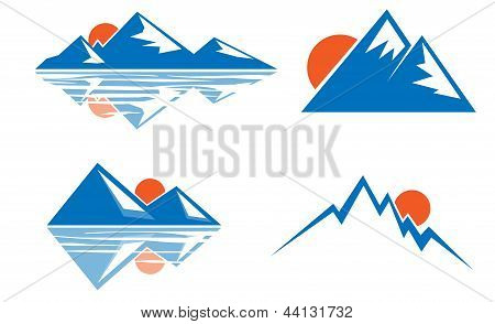 Blue mountains emblem