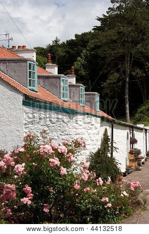 A Row Of Old Cottages