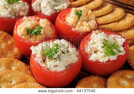 Stuffed Tomatoes And Crackers