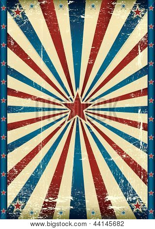 Vintage tricolor star background. A grunge background with a texture for your advertising