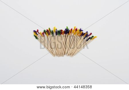 Toothpicks isolated on a white background