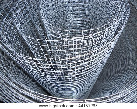 The metal mesh. Roll.