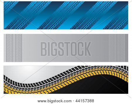 Banners With Tire Tracks