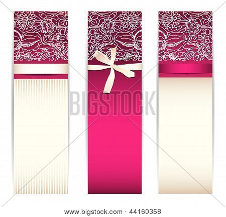 Banner Set With Bow And Lace