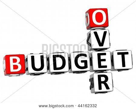 3D Over Budget Crossword