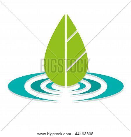 Leaf On Water Eco Logo