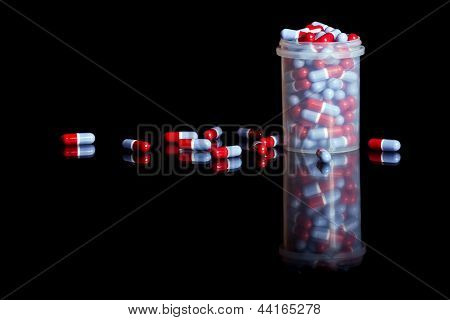Container Full Of Pills