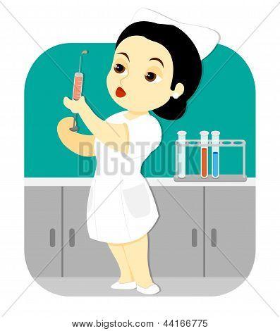 Nurse In The Lab