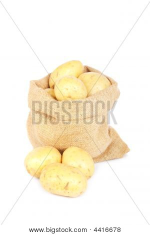 Burlap Sack With Potatoes