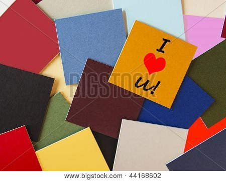 I Love You - Sticker Design, Label, Poster or Sign for Business or Office Romance!