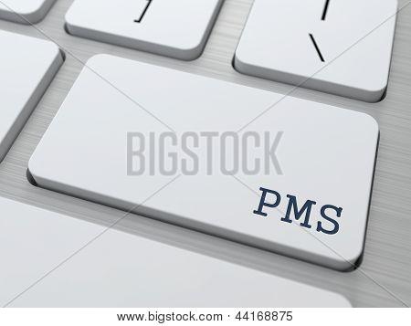 PMS (premenstrual  syndrome) Concept.