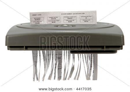 Credit Card Statement In Shredder