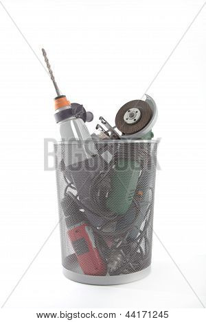 Electric Hand Tools In A Dustbin