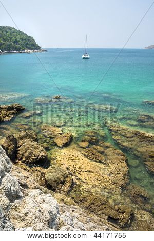 View of Yanui Beach bay, Phuket, Thailand.
