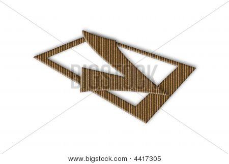 3D Cardboard Tick Sign
