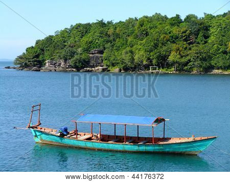 Traditional Wooden Boat, Sihanoukville, Cambodia