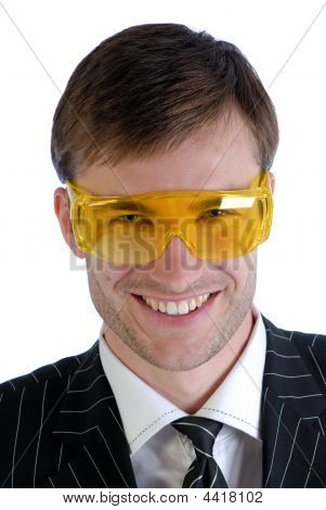 Man And Plastic Glasses